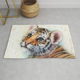 Nursery-Artwork-Tiger-Cub-Baby-Animal-Watercolor-Jungle-Safari-Animals Rug