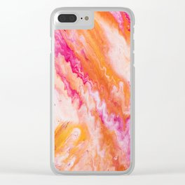 Fluid Expressions - Sorbet Clear iPhone Case