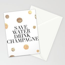 BUT FIRST CHAMPAGNE, Save Water Drink Champagne,Alcohol Sign,Drink Sign,Celebrate Life Quote,Bar Dec Stationery Cards