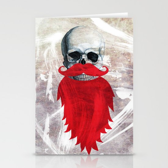 Beard Skull Stationery Cards