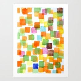 First Squares Pattern  Art Print
