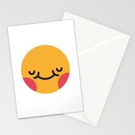 Emojis: Blush Stationery Cards