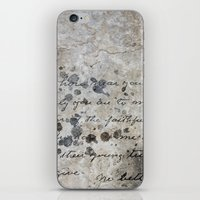 letter iPhone & iPod Skins featuring LETTER by ED design for fun