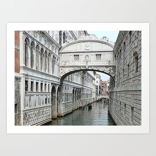 Bridge of sighs in Venice Art Print