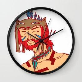 Tribal Man Wall Clock