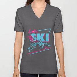 Vintage Ski Outfit 80s 90s - Retro Sports Crewneck Unisex V-Neck