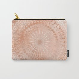 Rose Gold Geometric Mandala Carry-All Pouch