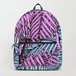 Pink & Blue Palm Tree Backpack