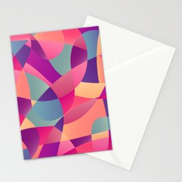 Modern Polygon Geometric Mosaic Abstract Stationery Cards