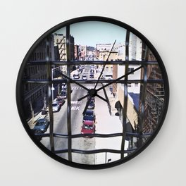 wrong turn in brooklyn Wall Clock