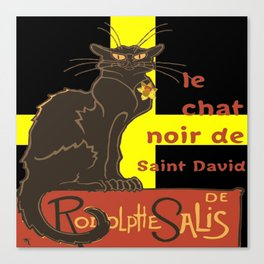 Le Chat Noir De Saint David De Rodolphe Salis Canvas Print