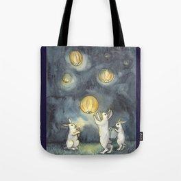 Sky Lanterns Tote Bag