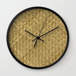 Basket Weaving Wall Clock