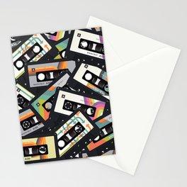 Retro Vintage Cassette Tapes Stationery Cards
