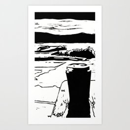Coffee by the Lake Art Print