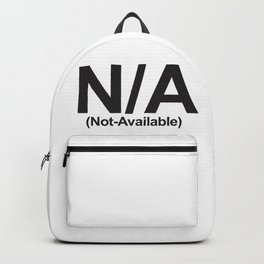 N/A (Not-Available) Backpack