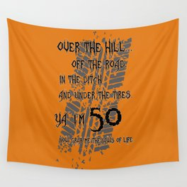 """Over The Hill """"50"""" Wall Tapestry"""