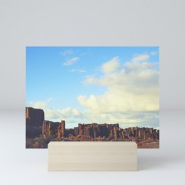 Sun Kissed Stone Pillars Mini Art Print