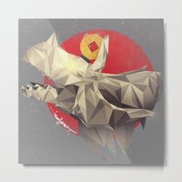 Triceratops Scream!  Metal Print