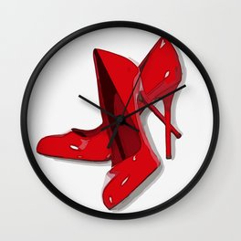 Put on your red shoes and dance the blues Wall Clock