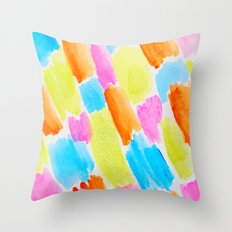 Brushstrokes - candy clouds pattern Throw Pillow