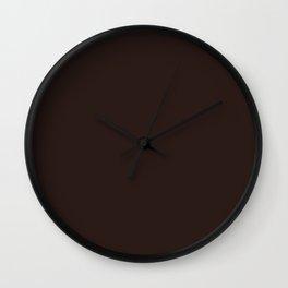 Solid, Midnight, Black, Color, Code, #2B1B17 Wall Clock