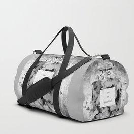 Perfume Black and White Duffle Bag