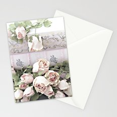 Shabby Chic Dreamy Pink Roses Cottage Floral Decor Stationery Cards