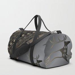 Elk Spirit (Gray) Duffle Bag