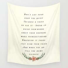 Fill the Silence Wall Tapestry