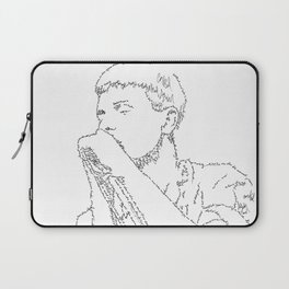 Ian Curtis WordsPortrait Laptop Sleeve