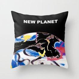 NEW PLANET     by    Kay Lipton Throw Pillow
