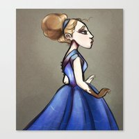 georgiana paraschiv Canvas Prints featuring Georgiana  by tailor moblee