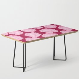 LOVE. Pink Roses. Coffee Table