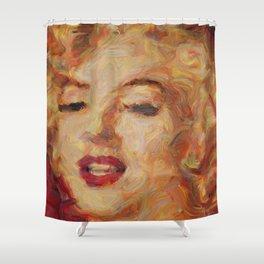 Marylin Monroe's closeup Shower Curtain
