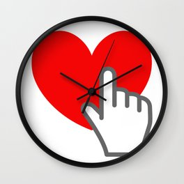 """Please press """" Love """" and Share , Thank you , Love Wall Clock"""