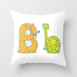 B Uppercase/Lowercase Pair, no border Throw Pillow