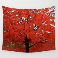 trees Wall Tapestries featuring  Trees  by Saundra Myles