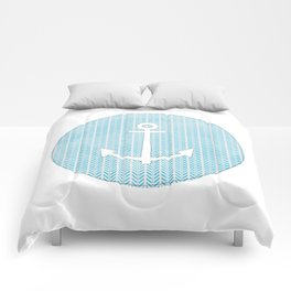 Anchor in Blue Comforters