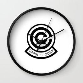 Capsule Corp Logo 1 Wall Clock