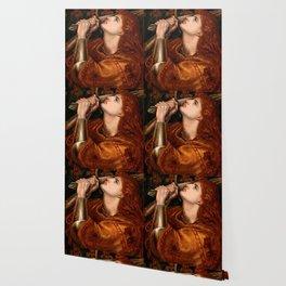 """Dante Gabriel Rossetti """"Joan of Arc"""" Wallpaper"""