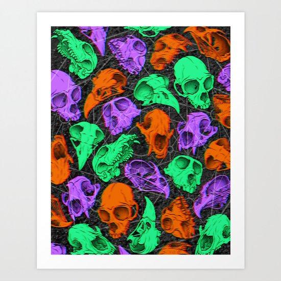 Critter Skulls Art Print