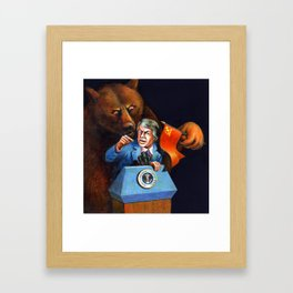Jimmy Carter Talks Tough to Soviets Framed Art Print