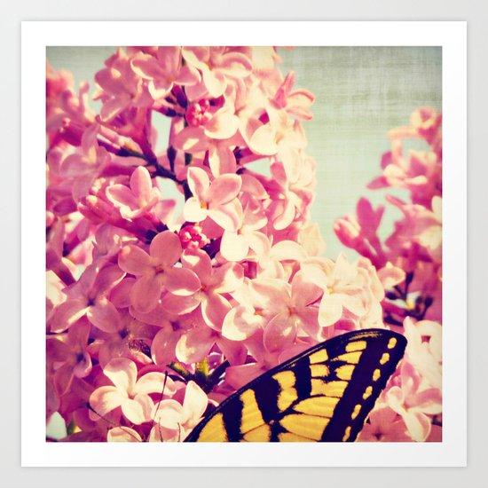 Lilac Monarch Art Print