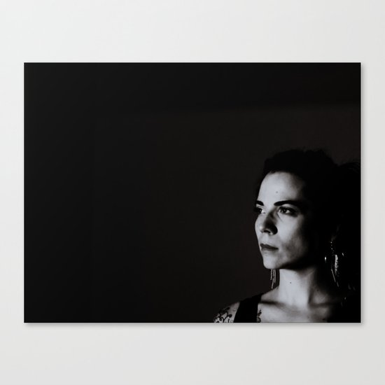 Low Key Self Portrait Canvas Print