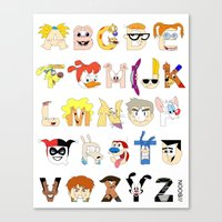 Child of the 90s Alphabet Canvas Print