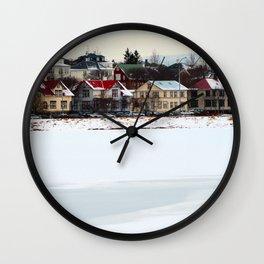 Village Houses Wall Clock
