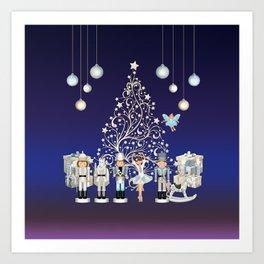Christmas time - Nutcracker Story on Christmas eve Art Print