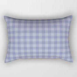 Blue gray simple plaid patterns . Rectangular Pillow