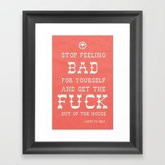 Note To Self Framed Art Print